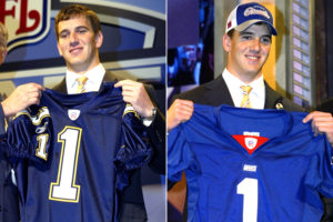 Eli Manning: dos Chargers para os Giants