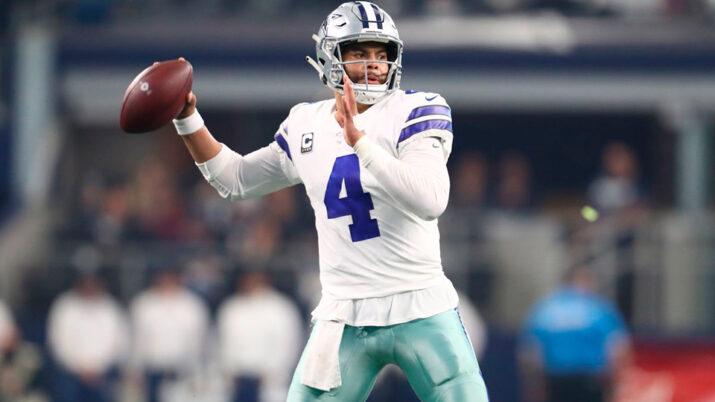 Dak Prescott em ação pelo Dallas Cowboys